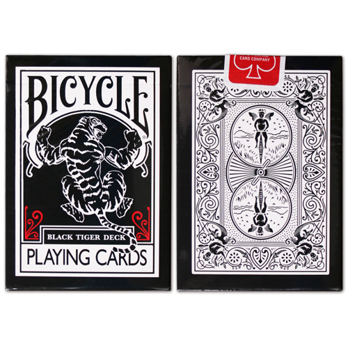JLCC 블랙타이거덱_레드(Bicycle Black Tiger Deck_Red Pip)