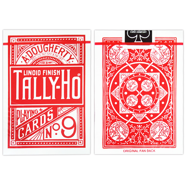 JLCC 레드탈리호카드-팬백(Cards Tally Ho Fan Back Poker size_Red)