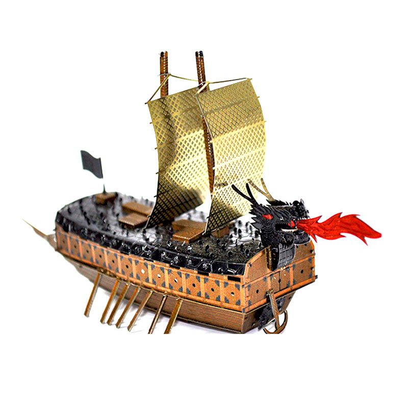 JLCC [3D컬러메탈퍼즐]거북선(3D Color Metal Puzzle-Turtle Ship)
