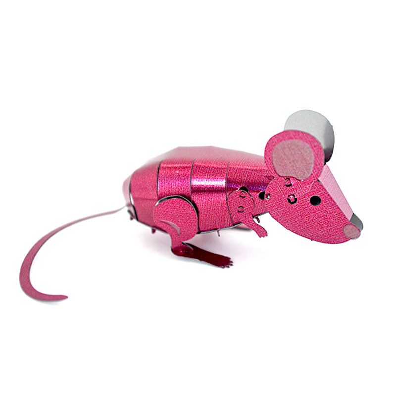 JLCC [3D컬러메탈퍼즐]핑크마우스(3D Color Metal Puzzle-Pink mouse)